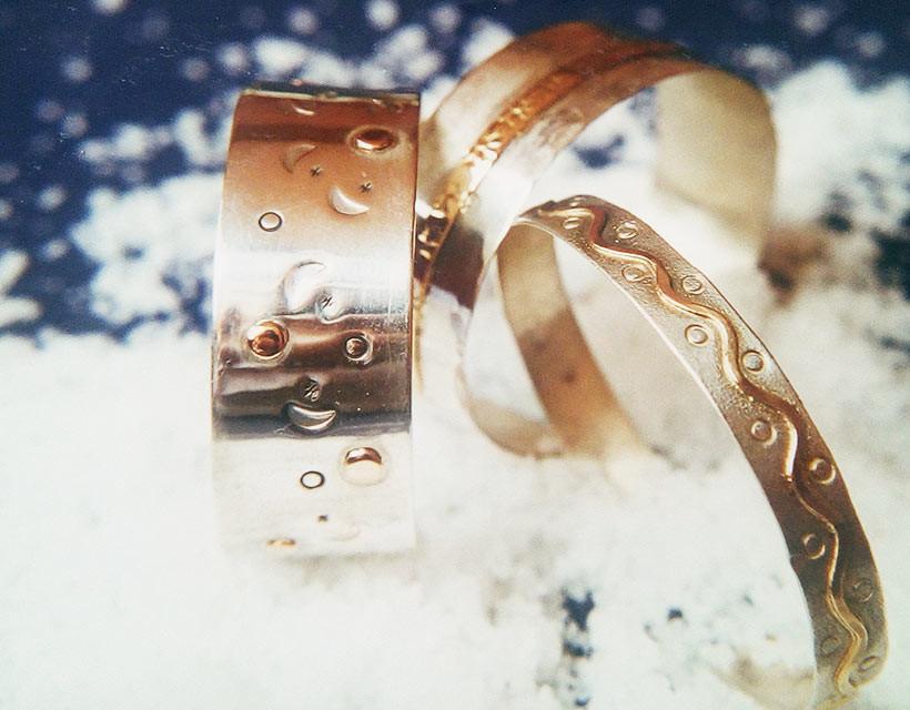 Braceletes Cielo Oro